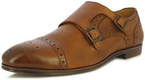 Alberto Torresi Men's Marfa Tan Monk Formal Shoes