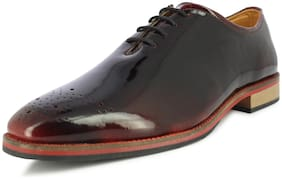 Alberto Torresi Men's Maroon Formal Shoes