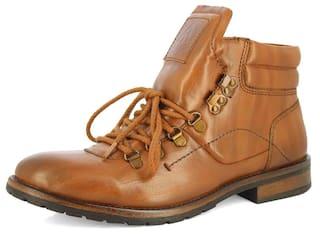 bb34f59d655 Buy Alberto Torresi Men Tan Boot Online at Low Prices in India ...