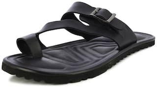 Alberto Torresi Men's Newt Black Slippers
