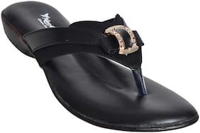 Alert India Footwear Women Black T-Strap Flats