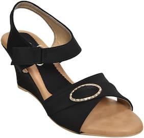 Alert India Footwear Women Black Wedges