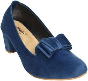Alert India Footwear Women Blue Heeled Bellies