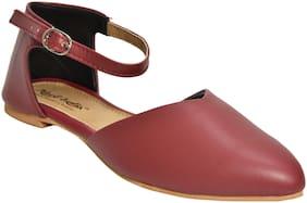Alert India Footwear Women Maroon Sandals
