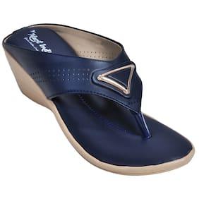 Alert India Footwear Women Blue Wedges
