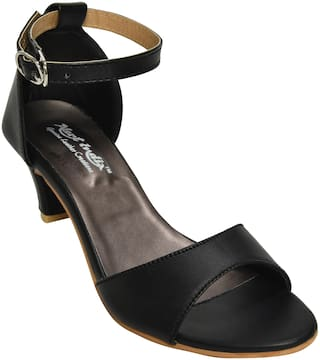 Alert India Footwear Women Black Heeled Sandals