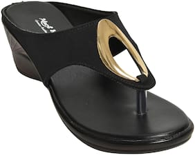 Alert India Footwear Women Black Wedges
