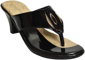 Alert India Footwear Women Black Heeled Sandals