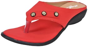 Alert India Textile Made For Women's-Red