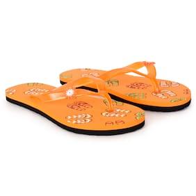 Imported Orange Women's Slippers & Flip flops