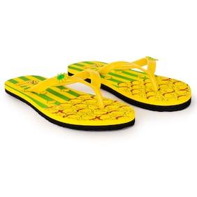 Imported Yellow Women's Slippers & Flip flops