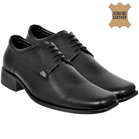 Allen Cooper Black Formal Shoes
