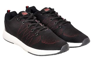 Allen Cooper Men Black Running Shoes