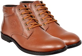 Allen Cooper Men's Tan Ankle Boots