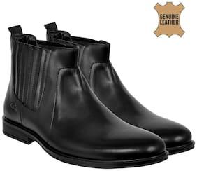 Allen Cooper Men's Black Chelsea Boots