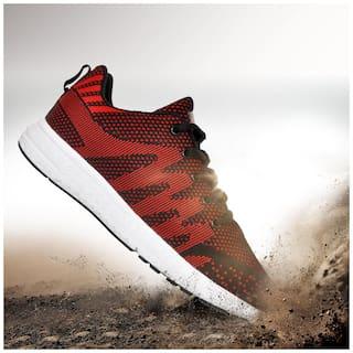 Allen Cooper Men ATHLEISURE RUNNING SHOES Running Shoes ( Red )