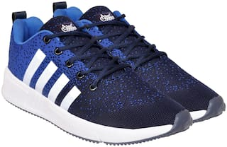 Allen Cooper Men Running Shoes ( Navy Blue )