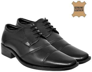 Allen Cooper Men Black Derby Formal Shoes