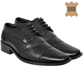 Allen Cooper Men Black Derby Formal Shoes