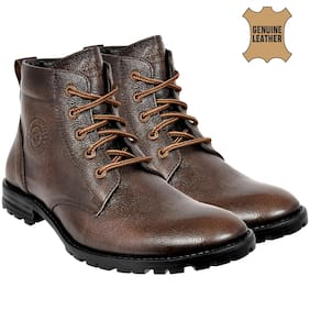 Men Brown Ankle Boots ,Pack Of Pack of 2