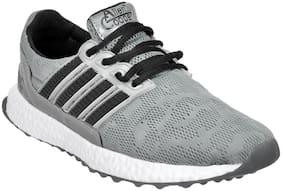 Allen Cooper Men's Grey Black Running Shoes