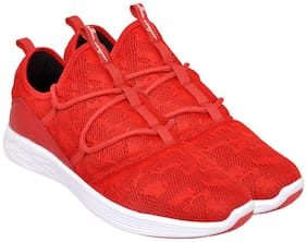 Allen Cooper Men BREATHABLE STYLISH SNEAKERS Trail Running Shoes ( Red )