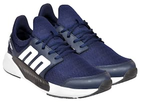 Allen Cooper Men Breathable Athletic Running Shoes Navy Blue Running Shoes