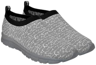 Allen Cooper Men's Light weight Comfortable Grey Walking Shoes