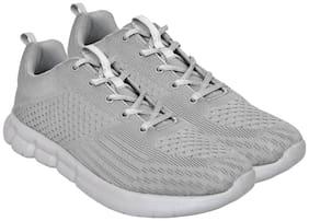 Allen Cooper Fabric Grey Walking Shoes For Men ACSS-36114-GREY