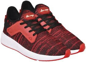Allen Cooper Men Athleisure Running Shoes Red Running Shoes