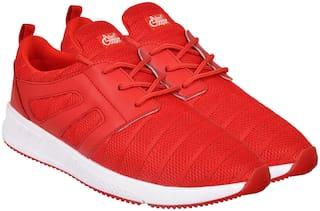 Allen Cooper Red Running Shoes For Men
