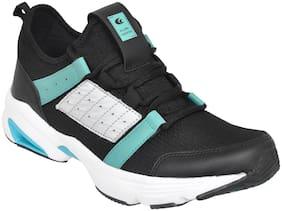 Allen Cooper Black Running Shoes For Men