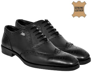 Allen Cooper Black Formal Shoes