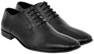 Allen Cooper Men's Black Genuine leather Comfortable & Stylish Formal Shoes ACFS-8067