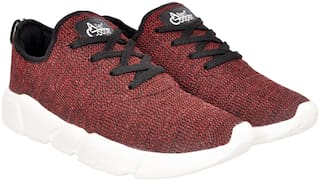 Allen Cooper Athleisure Sports Range Men's Mehroon Running Shoes