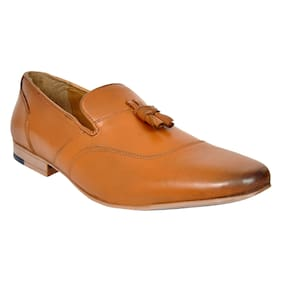 Allen Cooper Men Tan Formal Shoes - Accs-12951