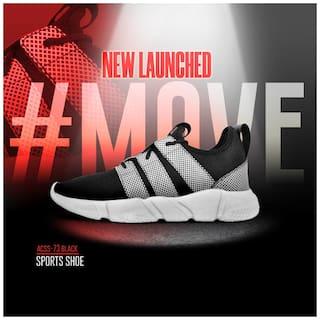 Allen Cooper Men ATHLEISURE RUNNING SHOES Running Shoes ( Black )