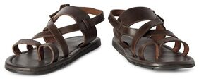 Allen Solly Brown Leather Sandals