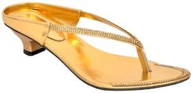 Altek Designer Kitten Heel Gold