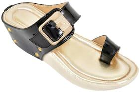 Altek Stylish Partywear Black Heel Wedges