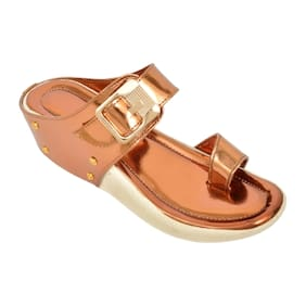 Altek Stylish Partywear Copper Heel Wedges