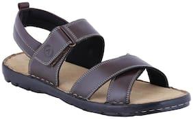 Amster Men Brown Genuine Leather Sandals