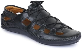 APPE Men Black Shoe-Style Sandals