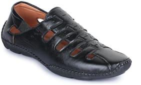 APPE Men Black Shoe-Style Sandals