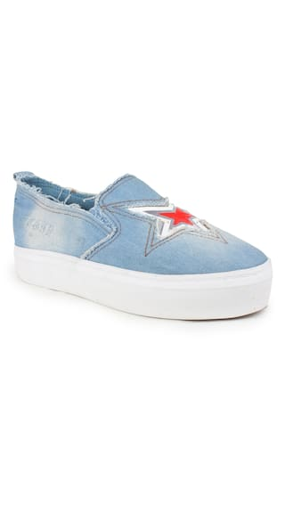 1098d43357f5e Buy Appe Women s Blue Denim casual shoes Online at Low Prices in ...