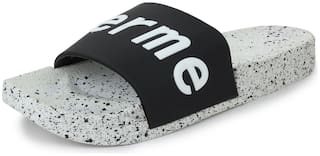 Appett Men Black slipper::Appett-265