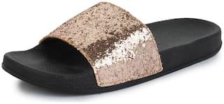 Appett Women Gold slipper::Appett-266