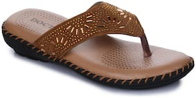 Appett Women Brown slipper::Appett-251