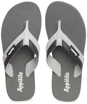 Appitite Men Grey Indoor Slippers - 1 Pair