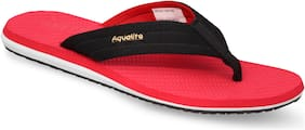 Aqualite Men Black Casual Slippers & Flip-Flops (GV-152N)